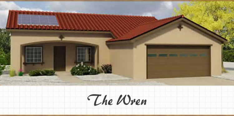 The wren 1084 sq ft 2bd 2ba shadow mountain construction for Stick built garage plans